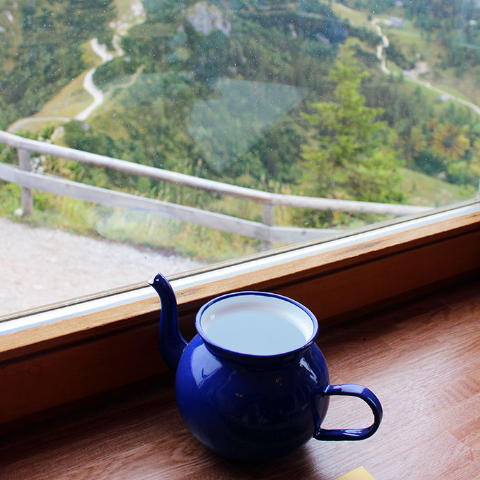 Teapot in cozy dining room - Ainring, Salzburg and the Jenner: A road trip through Germany, and other ways to pass the time (Part 5)