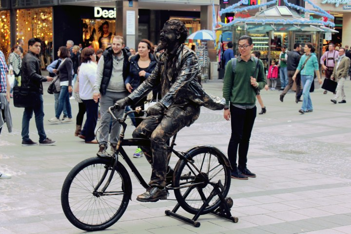 Munich - Cycle statue man - Munich and the Oktoberfest: Part 6 of A road trip through Germany, and other ways to pass the time