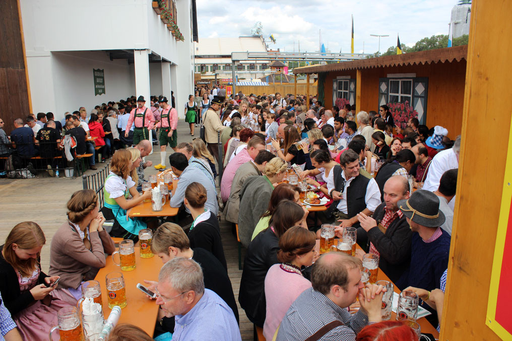 Munich - Okotberfest benches - Munich and the Oktoberfest: Part 6 of A road trip through Germany, and other ways to pass the time