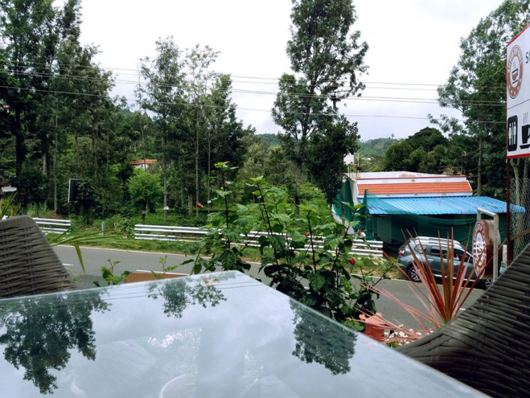 View from Silvertip Cafe near Kotagiri, Coonoor, Tamil Nadu, India - an escape from the summer heat