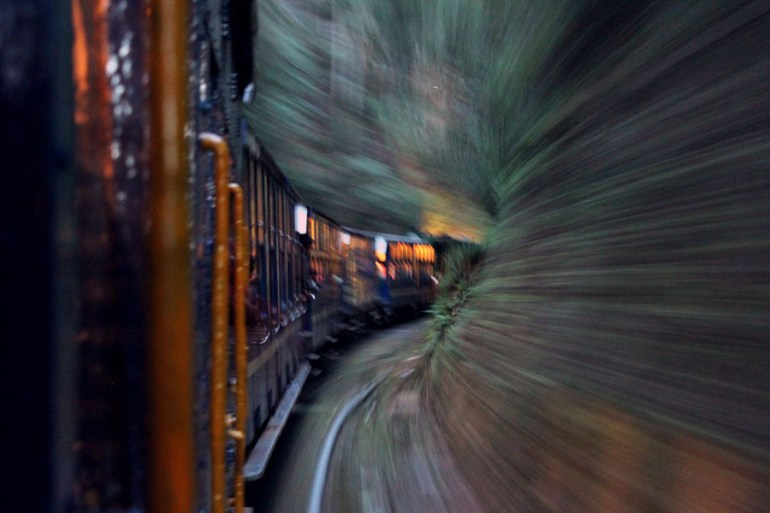 Long exposure of mountain train from Ooty to Coonoor - an escape from the summer heat