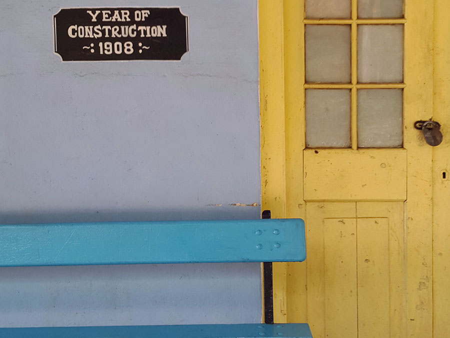 Coonoor - Wellington station bench and door