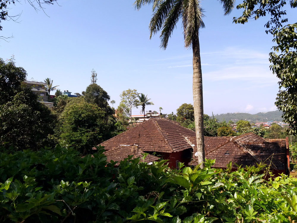 Tiled roofs, Madikeri - Coorg travel guide