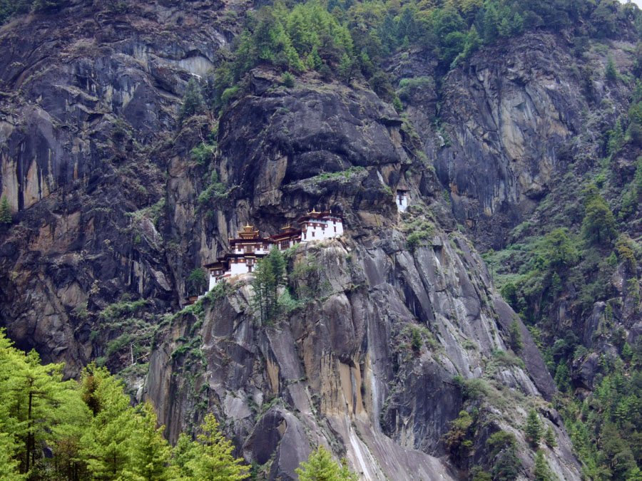 Bhutan - Long shot of Taktsang - mountain holiday destinations in India