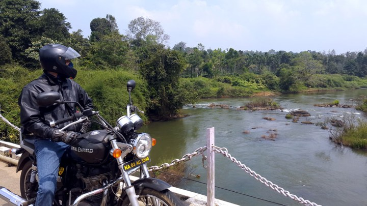 Coorg - Bike river bridge