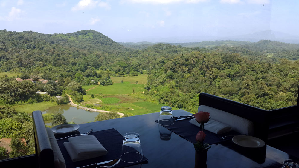 View from the restaurant of the Taj resort - Coorg travel guide