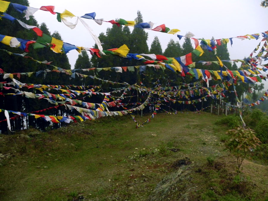 Kalimpong -Prayer flags on Deolo - mountain holiday destinations in India