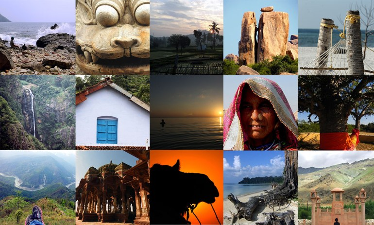 Collage of pictures from across India - travel mistakes we made