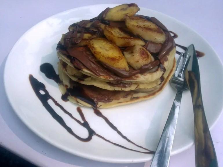 Agonda - eating and acco - pancakes - perfect base for a Goa trip