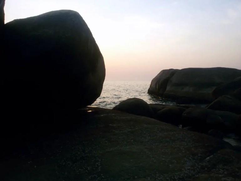 View from the rocks on Agonda beach, Goa, India - perfect base for a Goa trip