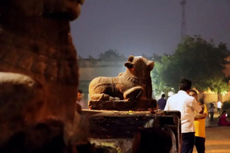 Thanjavur - Small nandi - Temples of Madurai and Thanjavur