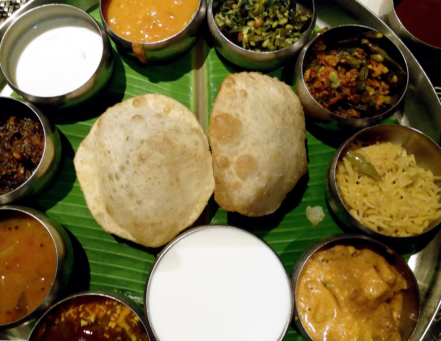 Good restaurants for veg food - Spicy Venue thali - vegetarian food in Hyderabad