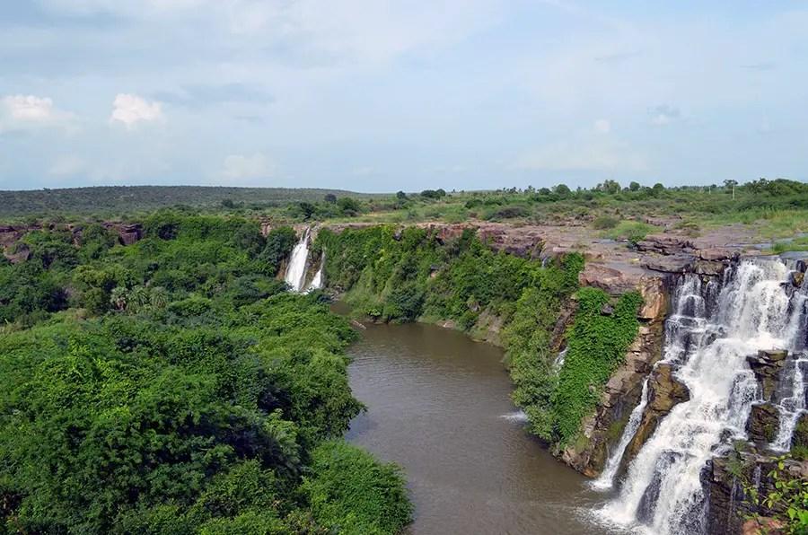 Ethipothala water falls, Nagarjuna Sagar, Telangana, India