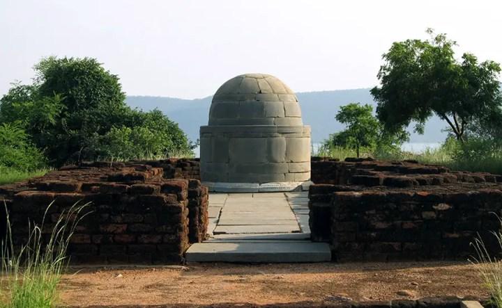 Buddhis remains on Nagarjunakonda, Nagarjuna Sagar, Telangana, India
