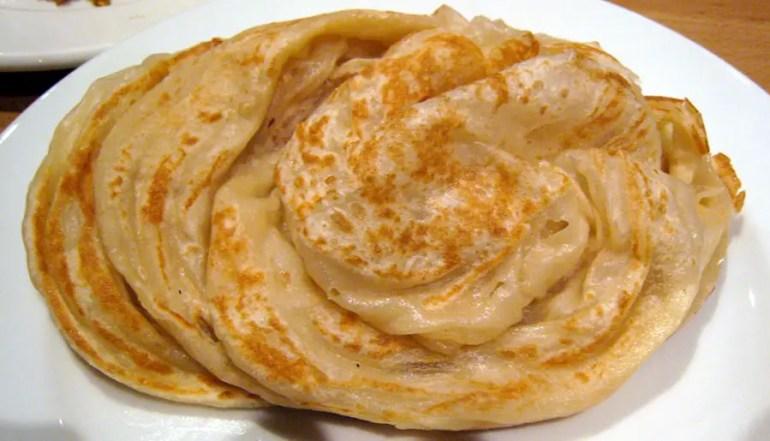 Parotta - flaky layered flatbread - Lakshadweep - vegetarian dishes from India