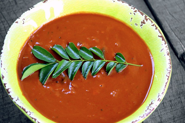 Uluvacharu (horsegram curry) - Andhra Pradesh - vegetarian dishes from India