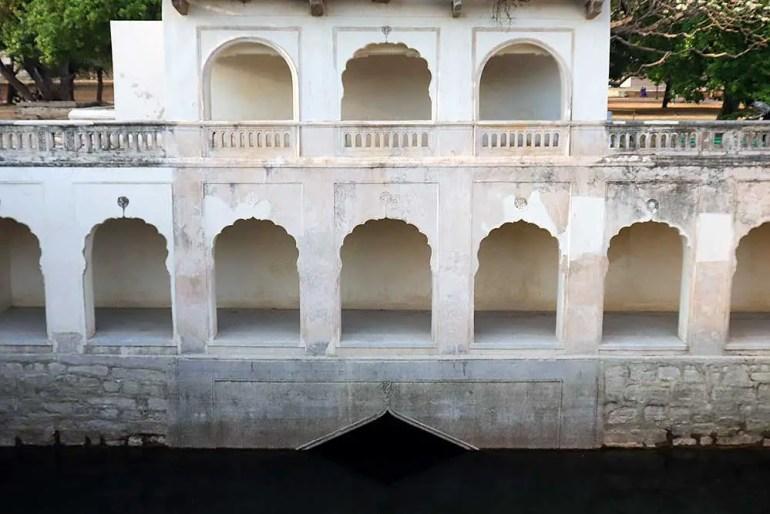 badi baoli step well at qutb shahi tombs, hyderabad, india
