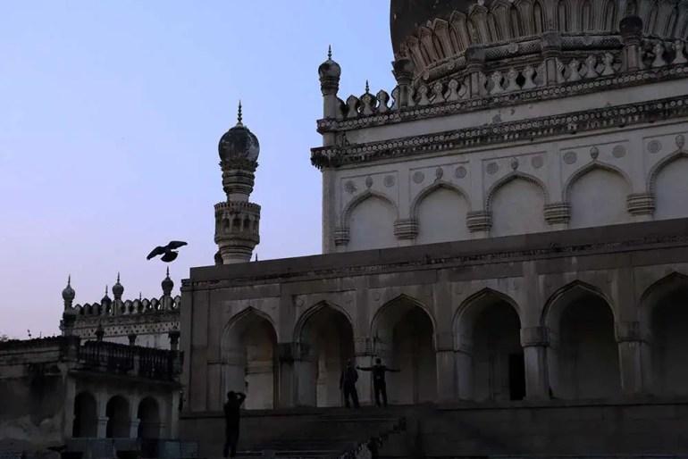 tomb of hayat bakshi begum and great mosque, qutb shahi tombs, hyderabad, india
