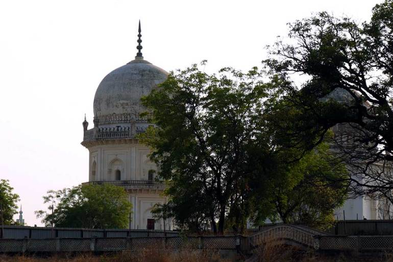 tombs of jamsheed quli qutb shah and sultan quli qutb shah, qutb shahi tombs, hyderabad, india