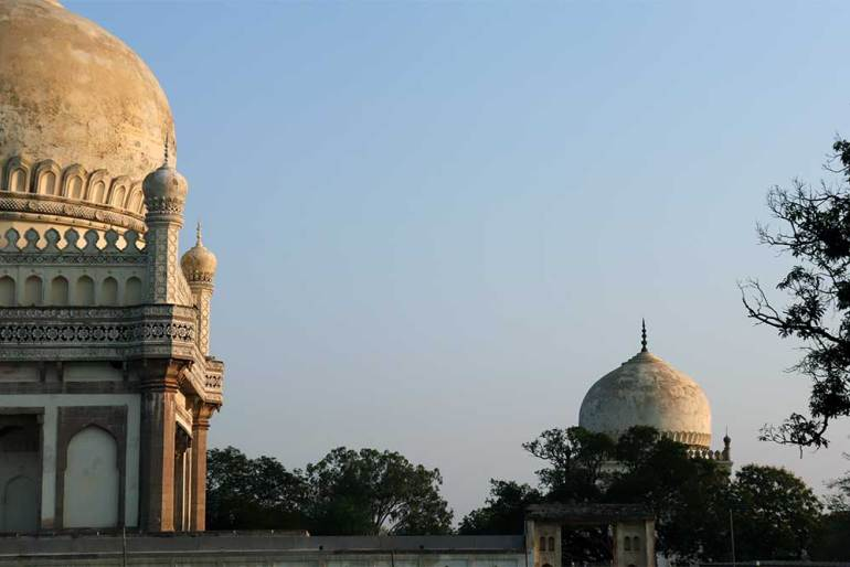 the tombs of ibrahim quli qutb shah and muhammad quli qutb shah, qutb shahi tombs, hyderabad, india