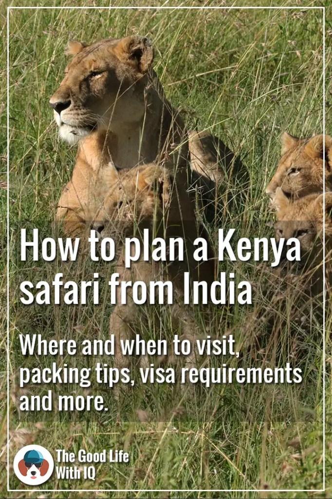 Pinterest thumbnail - How to plan your Kenya tour from India
