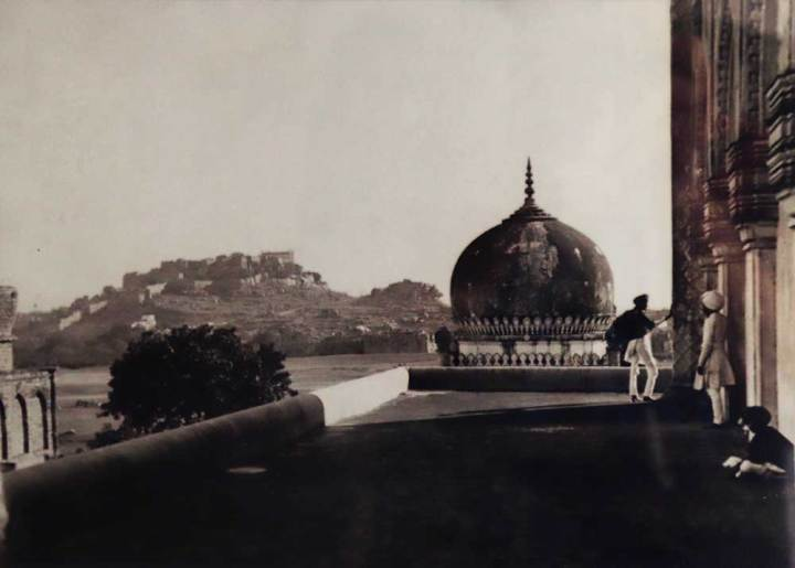View-of-Golconda-from-the-tomb-of-Hayat-Bakshi-Begum-by-Raja-Deen-Dayal