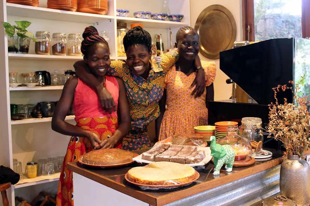 Cafe staff - Kardamom & Koffee, a hidden gem in Kampala, Uganda