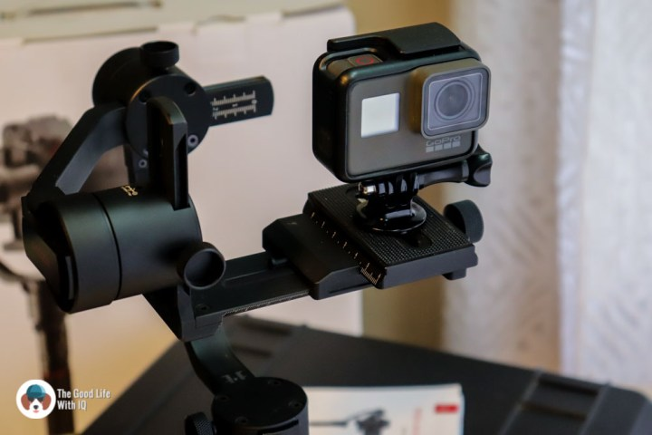 GoPro mounted on stabilizer