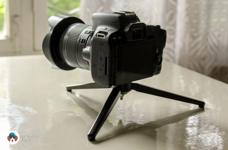 Mini-tripod and camera - Review: Moza AirCross 3-axis gimbal camera stabilizer