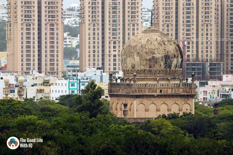 Abdullah Qutb Shah tomb from petla burj - Things to do on the weekend in Hyderabad: The outer ramparts of Golconda Fort