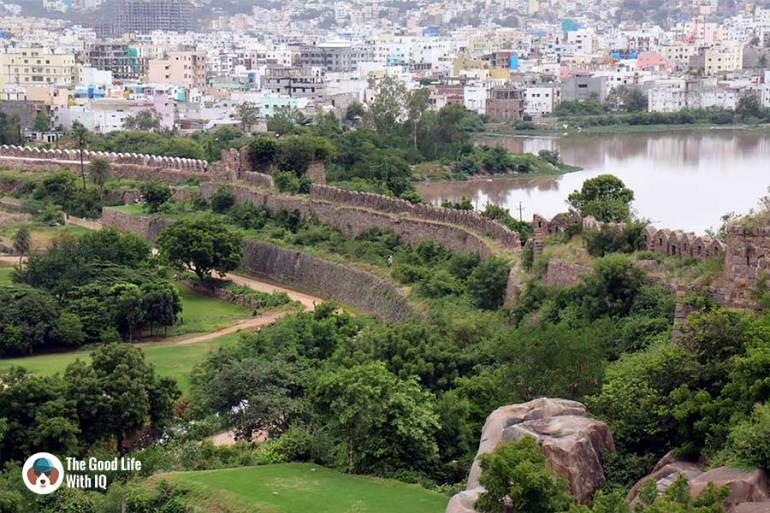 Walls of Naya Qila - Things to do on the weekend in Hyderabad: The outer ramparts of Golconda Fort