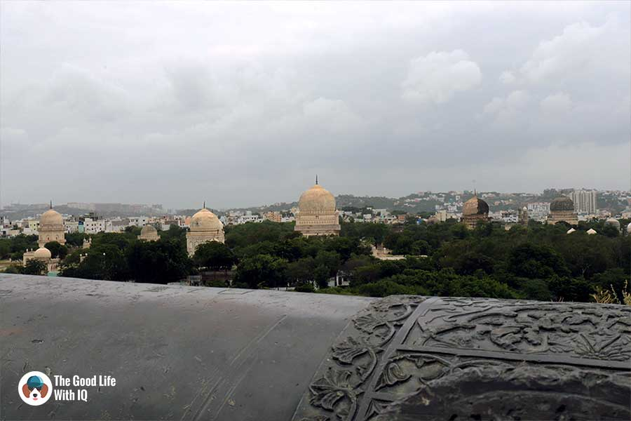 qutb shahi tombs seen from petla burj - Things to do on the weekend in Hyderabad: The outer ramparts of Golconda Fort