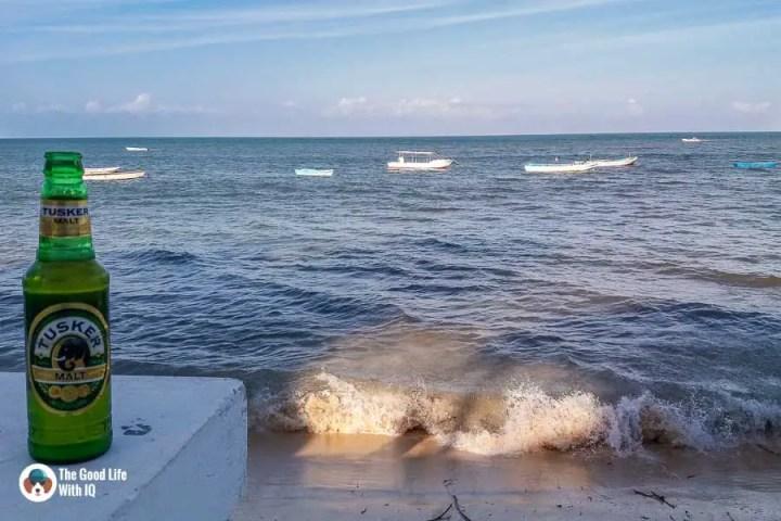 Beer, beach and boats at Malindi