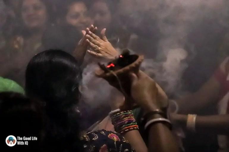 Ladies dancing - Durga Puja 2018
