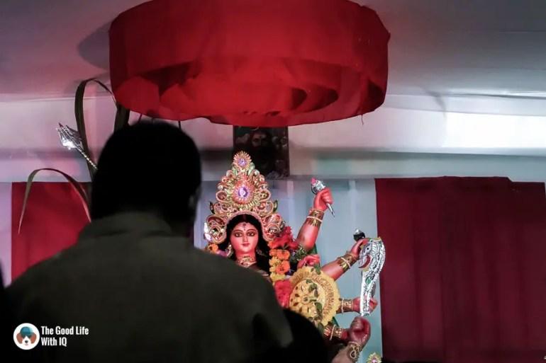 Worshipper at the pandal - Durga Puja 2018