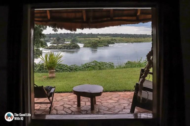 Window view from Haven, Jinja, Uganda