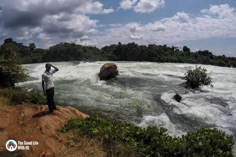 Dangerous river rapids, Jinja, Uganda