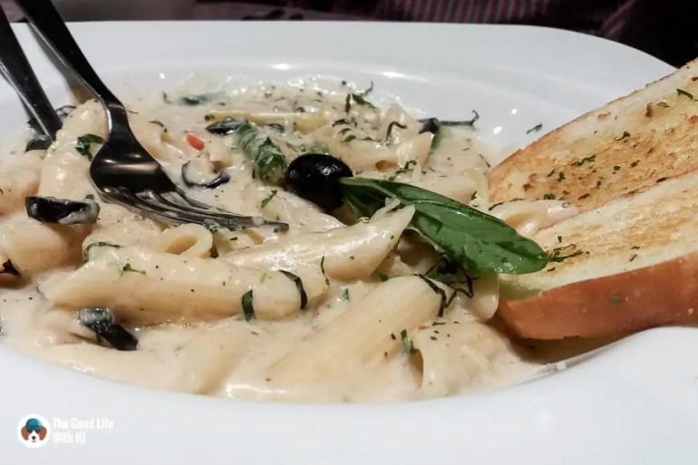 Pasta with cream sauce - Tatva review