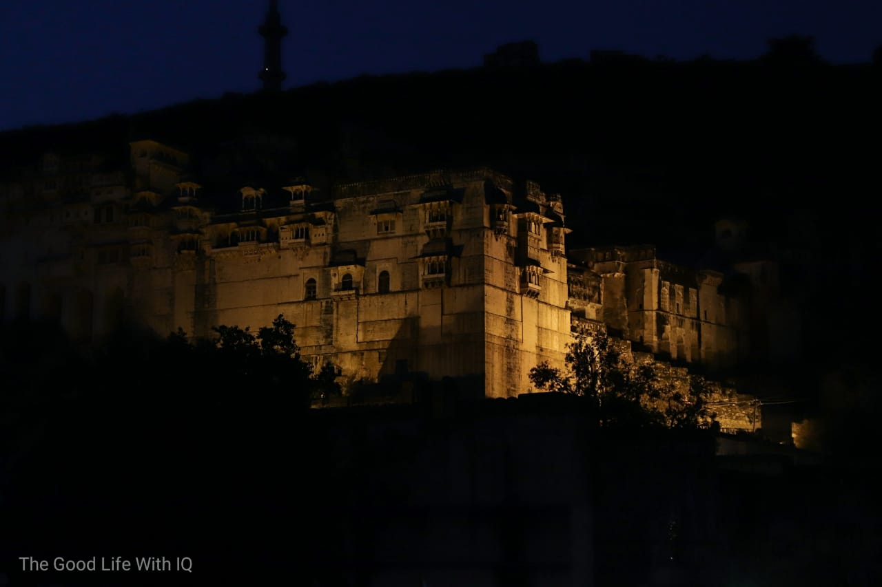 Garh Palace at night, Bundi