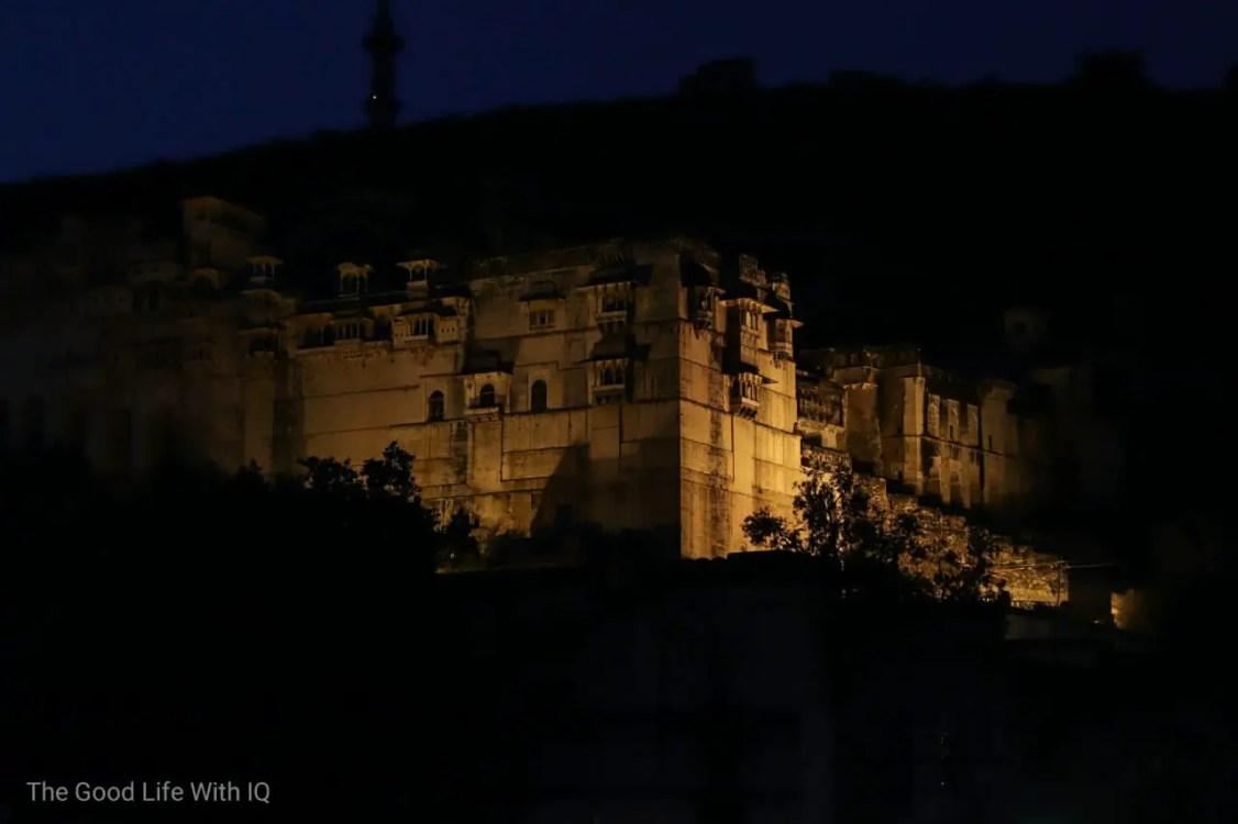 Garh Palace at night, Bundi