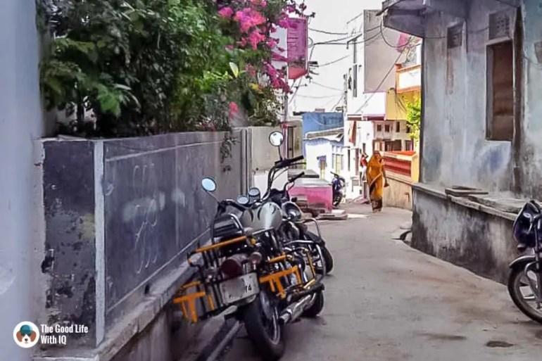 Parked bike - Chittorgarh