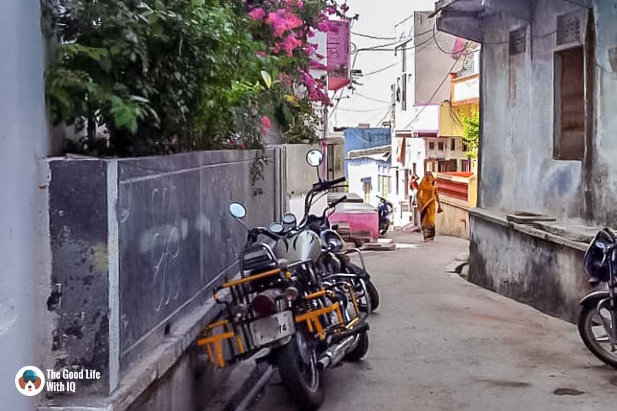 Parked bike - Chittorgarh
