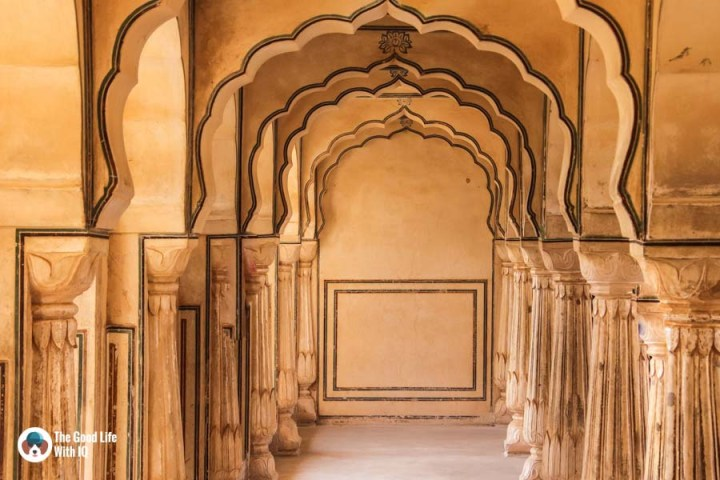 arched hall, Amber Palace, Jaipur