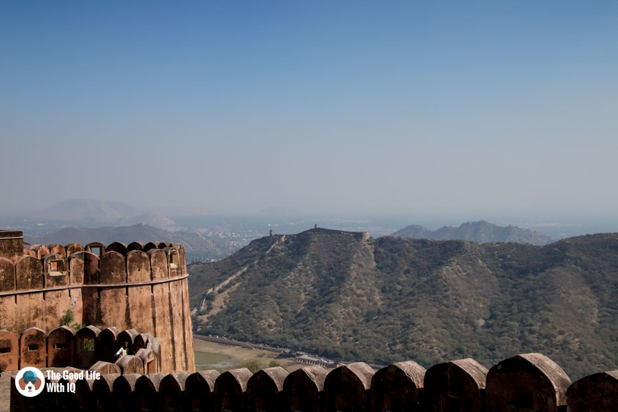 Amer fort battlements, Jaipur