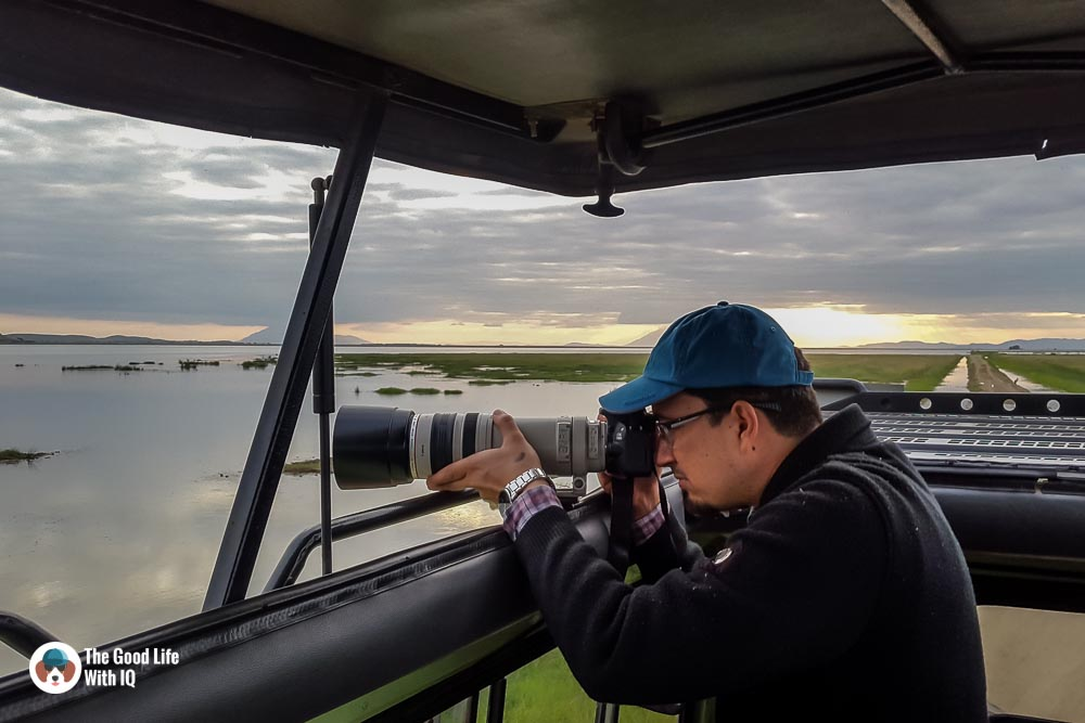 Kenya safari - Amboseli - Taking photographs