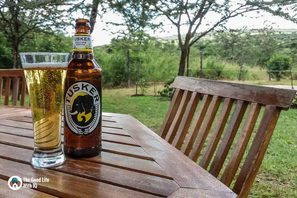 Kenya safari - Masai Mara - Beer at camp