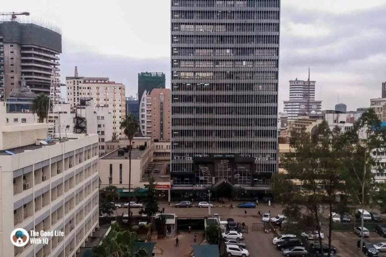 Kenya safari - Nairobi - view from hotel window