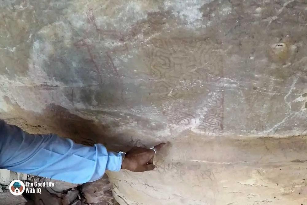 Abstract cave painting, Bundi