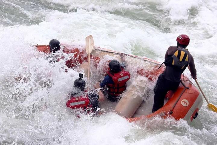 Raft capsizing again - Jinja, Uganda