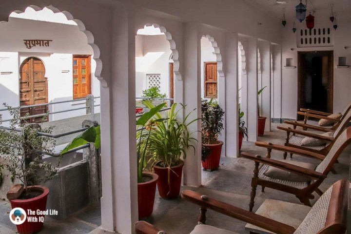 Chittorgarh Fort - Padmini Haveli sit-out - Nice places to stay